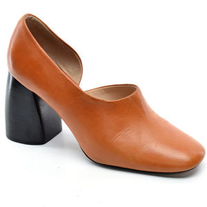 Mango Architectural Chunky Heel Pumps size 39
